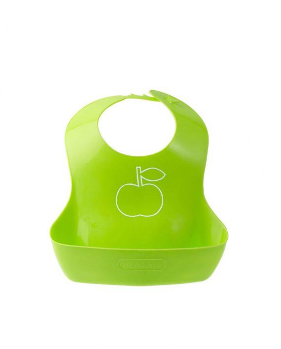 Haklapp med vid ficka grön