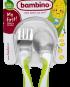 Barnbestick grön - sked och gaffel