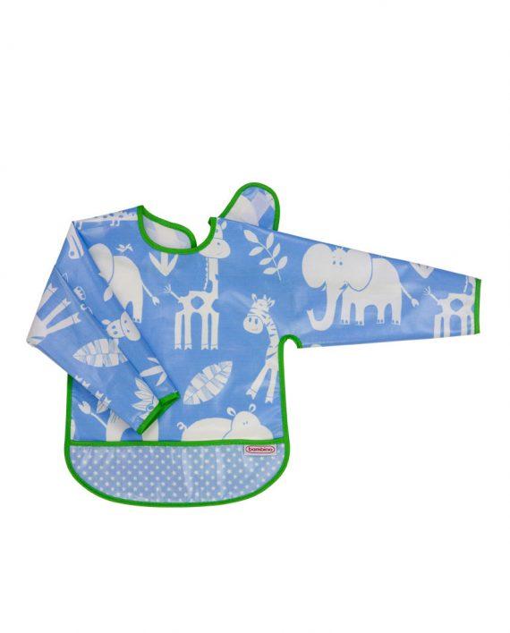 Bambino-långärmad-haklapp_sleeved_bib_blue